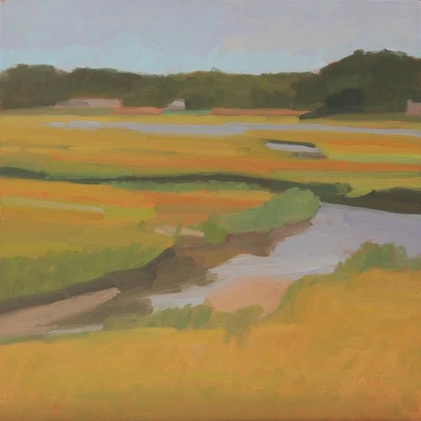 October Marshes,   10 x 10 inches, oil on panel